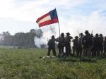 The confederate firing line.